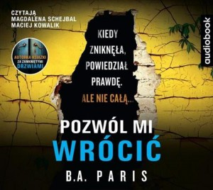Pozwól mi wrócić. B.A. Paris - audiobook CD mp3